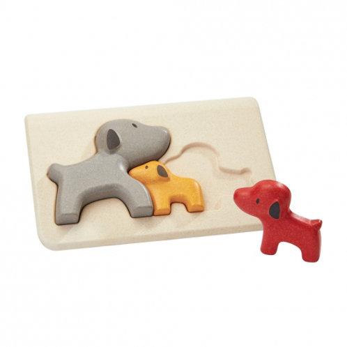 Puzzle famille chiens