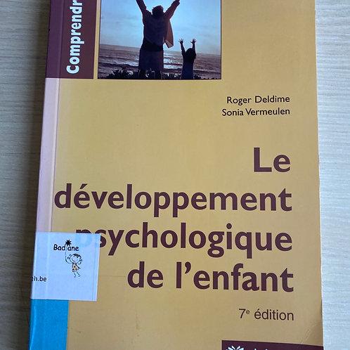 Le développement psychologique de l enfant