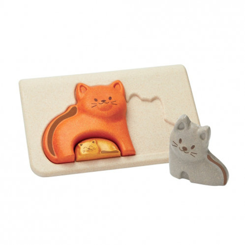 Puzzle famille chats