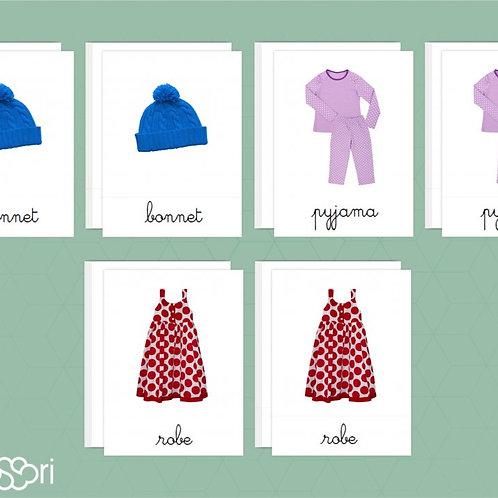 Fiches nomenclature Les vêtements