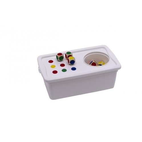 Boîte de jeu - cubes assortis