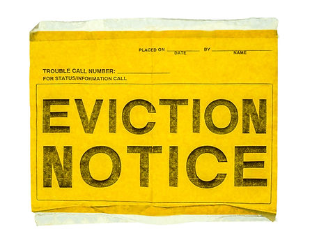 Isolated Eviction Notice On Yellow Paper