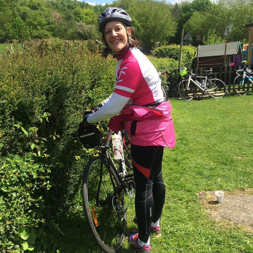 Paula B cycling