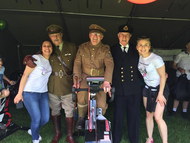 We saluted whilst fundraising at Armed Forces Day 2016
