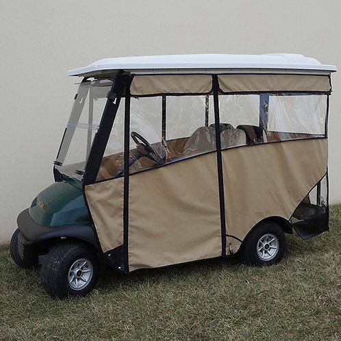 """Odyssey Enclosure, 88"""" RHOX Top, Beige, Club Car Precedent with Rear Seat"""