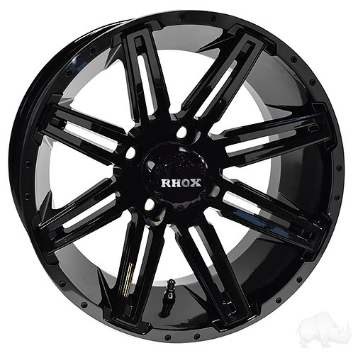 RHOX RX275, Gloss Black, 14x7, ET-25