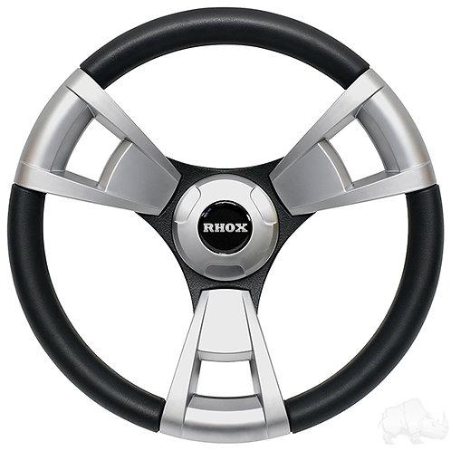 Fontana Steering Wheel, Brushed, E-Z-GO