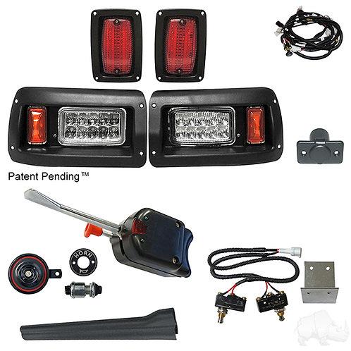 RHOX LED Adj. Light Kit, Club Car DS 93+ (Basic Turn Switch, Micro Brk Switch)