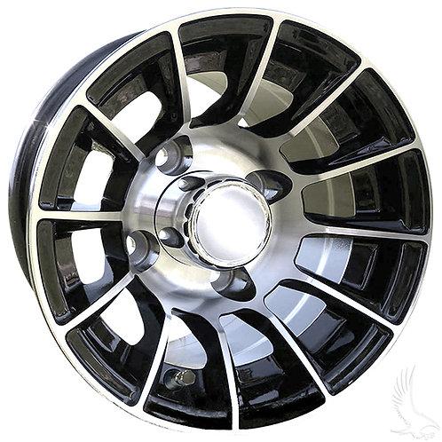 AC558, Machined Gloss Black, 10x7 ET 15.5