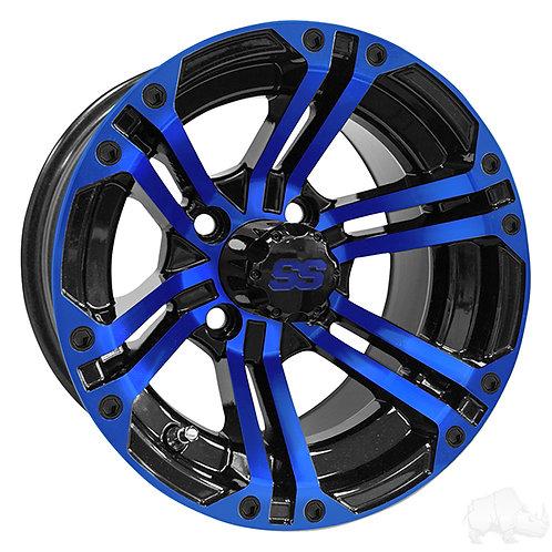 RHOX RX334 Black and Blue w/Center Cap, 12x7 ET-25