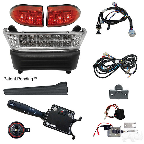 RHOX LED Light Bar Kit, Precedent Elec, 2008.5+, (DLX turn sw, Linkage Brk Sw)