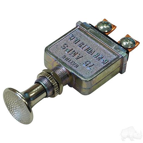 Push/Pull Headlight Switch, Heavy Duty, 12V 75A