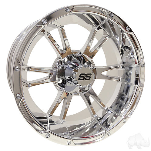 RHOX RX342, Chrome w/ Center Cap, 14x7 ET-25