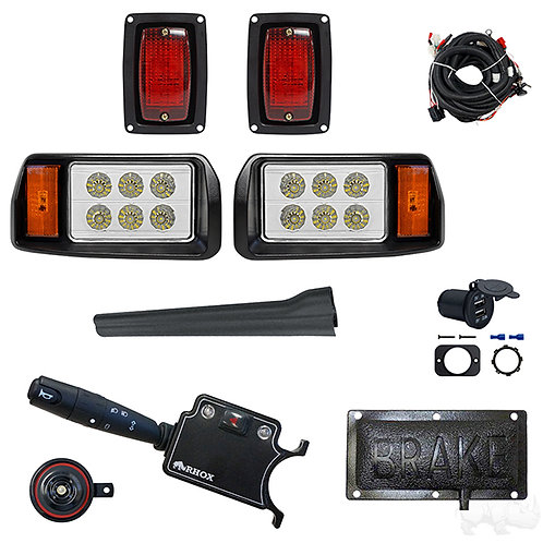 LED OEM Style Light Kit, Club Car DS 93+, DLX Turn Signal,Pressure Brake Sw