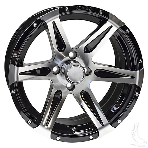 AC618, Machined Gloss Black, 15x7 ET-25