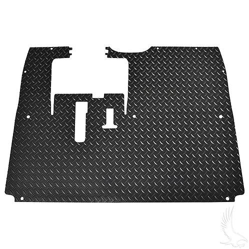 Floor Mat, Diamond Plate Rubber, Black, Yamaha Drive