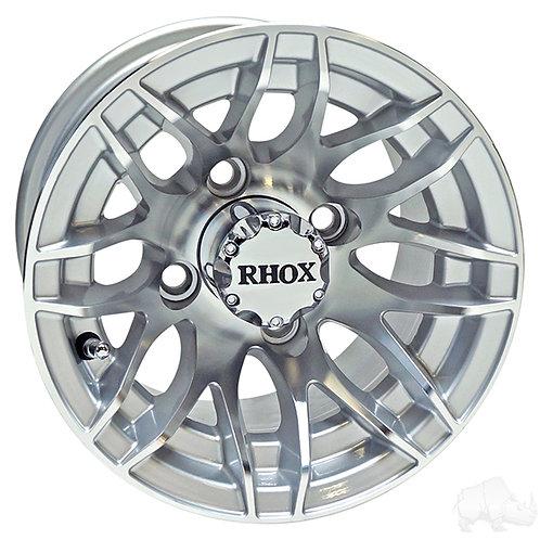 RHOX RX175, Machined Silver, 10x7 ET -25