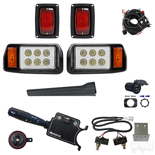 LED OEM Style Light Kit, Club Car DS 93+, DLX Turn Signal, Micro Brake Sw