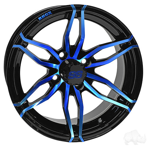 RHOX RX378, Gloss Black with Blue, 14x7 ET-25