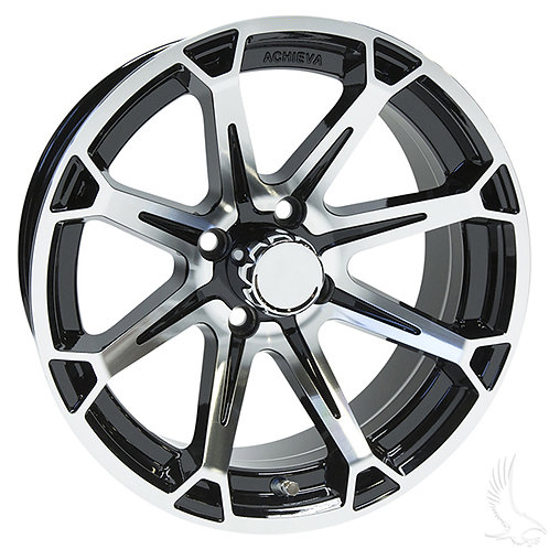 AC599, Machined Gloss Black, 15 x 6 ET-25