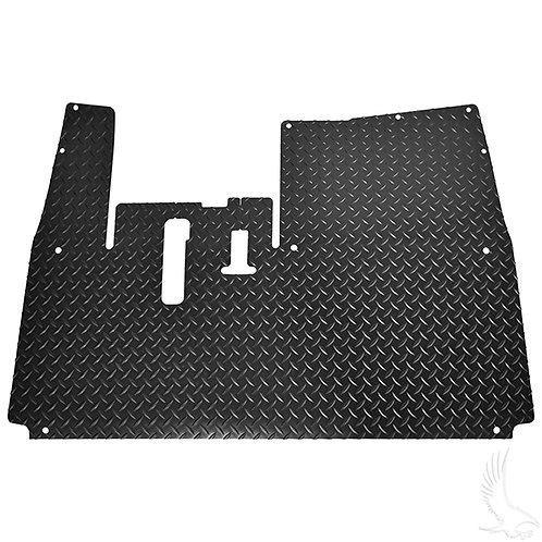 Floor Mat, Diamond Plate Rubber, Black, Yamaha Drive2