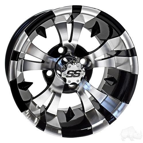 RHOX RX188, Machined Gloss Black, 14x7 ET-25