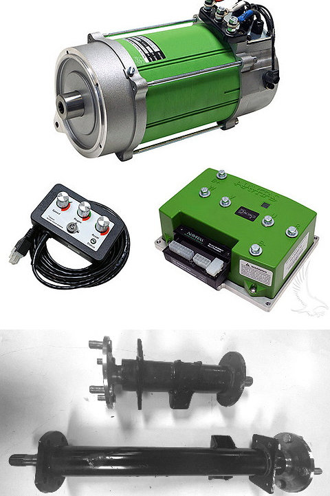 Level 8B, Navitas 600A/5KW AC Conversion Kit, for EARLY Club Car DS IQ, W AXLES!