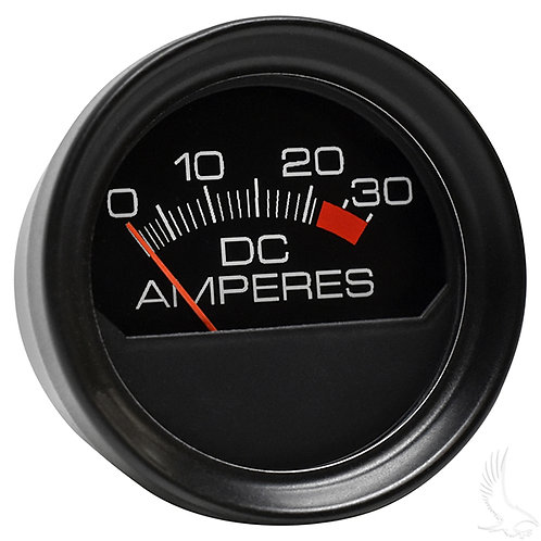 Ammeter, 30A Round, E-Z-Go Chargers