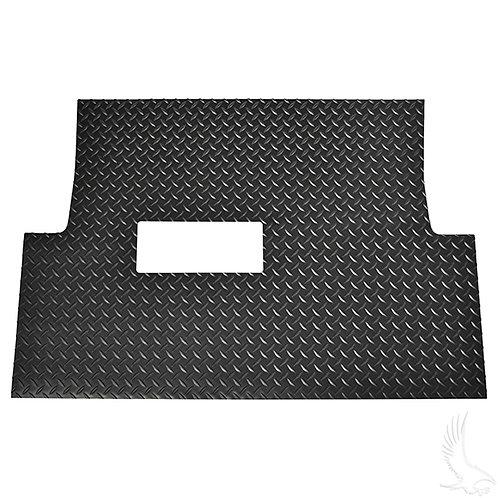 Floor Mat, Diamond Plate Rubber, Black, Club Car Tempo, Onward, Precedent 04+