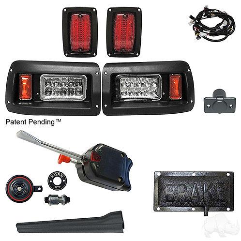 RHOX LED Adj. Light Kit, Club Car DS 93+ (Basic Turn Switch, Pressure Brk Sw)