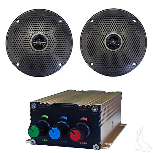 """Bluetooth Audio Package with Bluetooth Enabled AMP and 5"""" Speaker Set"""