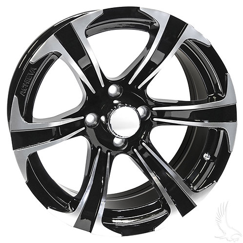 AC688, Machined Gloss Black, 15x7 ET-25