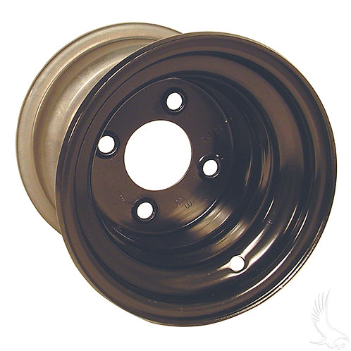 Steel Wheel, Black, 8x7 w/offset