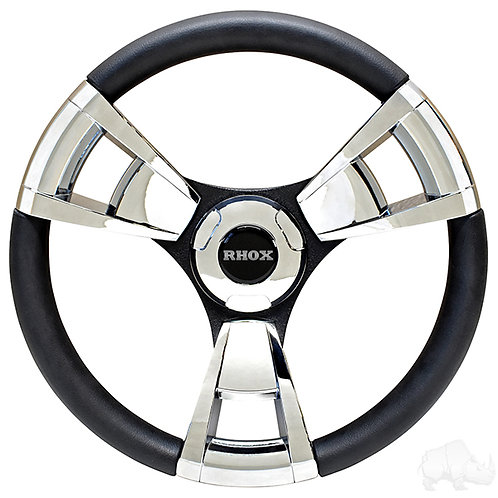 Fontana Steering Wheel, Chrome, E-Z-Go