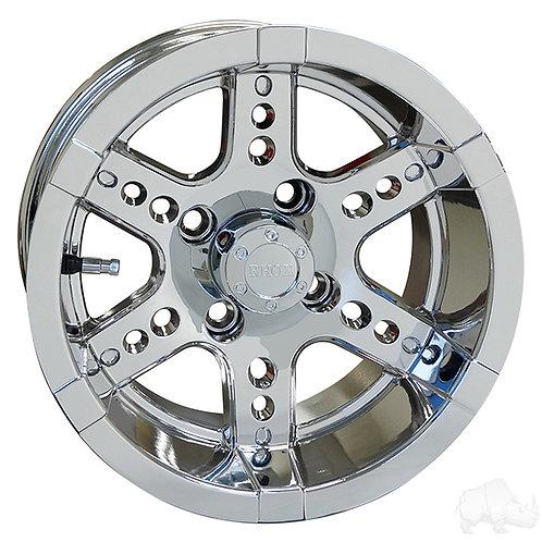 RHOX RX254, Chrome w/ Center Cap, 12x7 ET-25