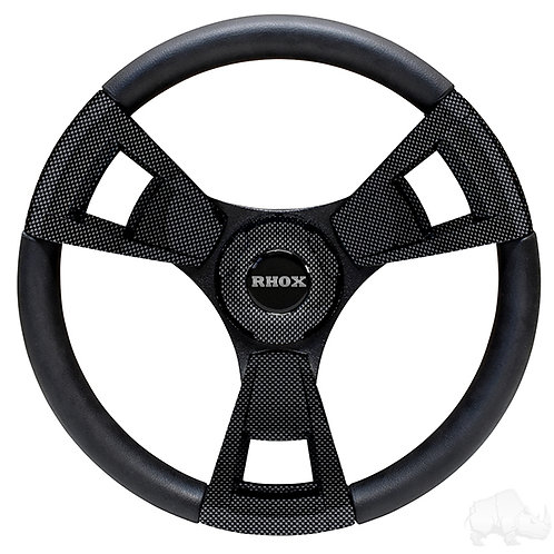 Fontana Steering Wheel, Carbon Fiber, Club Car DS 84+