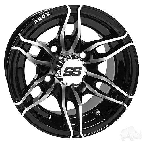 RHOX RX376, Machined Black, 10x7 ET-25