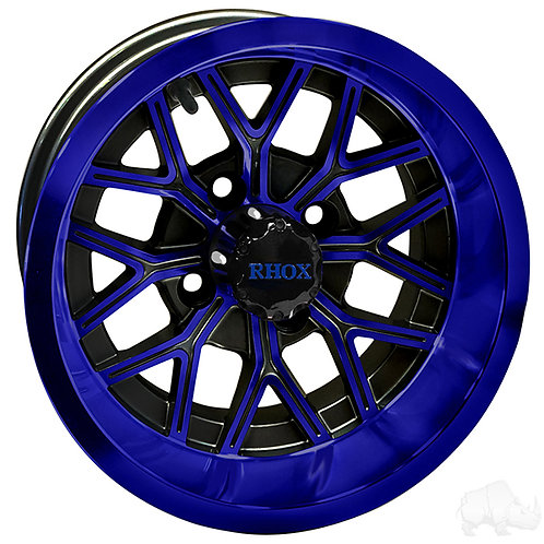 RHOX RX284, Gloss Black with Blue, 12x6 ET-10