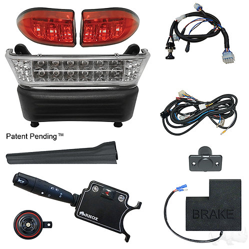 RHOX LED Light Bar Kit, Precedent Elec, 2008.5+, (DLX turn sw, OEM Brk Sw)