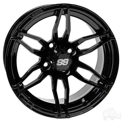 RHOX RX378, Gloss Black, 14x7 ET-25