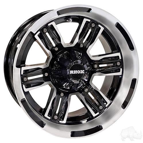 RHOX RX285, Machined Gloss Black, 14x7 ET-25