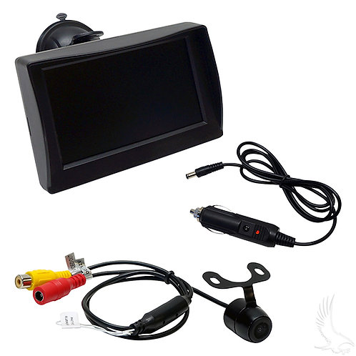 """Rearview Camera Package for LSV, Flush Mount Camera and 4.3"""" Dash Mount, Color"""