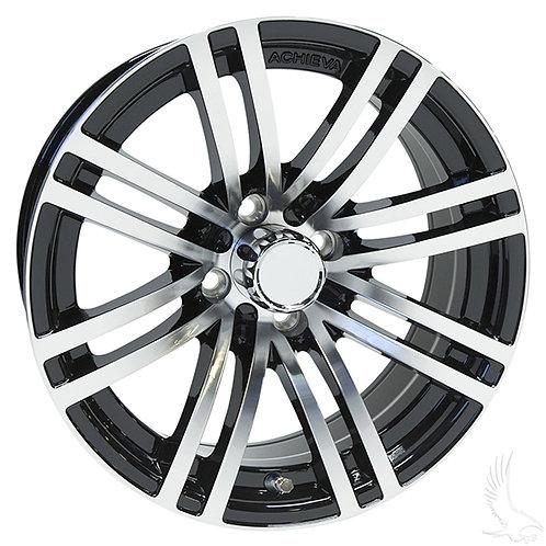 AC528, Machined Gloss Black, 15 x 6 ET-25