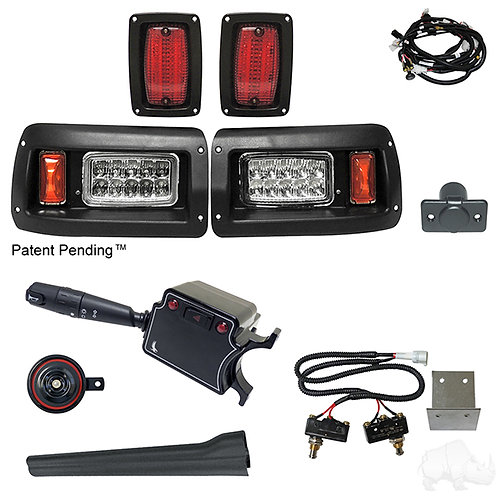 RHOX LED Adj. Light Kit, Club Car DS 93+ (DLX Turn Switch/Micro Brk Switches)