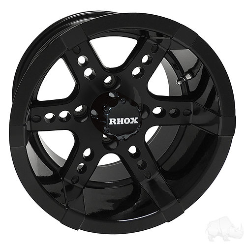 RHOX RX262, Black w/ Center Cap, 14x7 ET-25