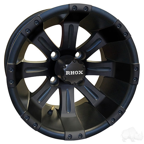 RHOX Vegas, Matte Black w/ Center Cap, 12x7 ET-25