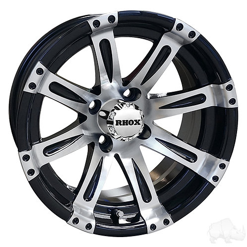 RHOX Vegas, Machined w/Black w/ Center Cap, 14x7 ET-25