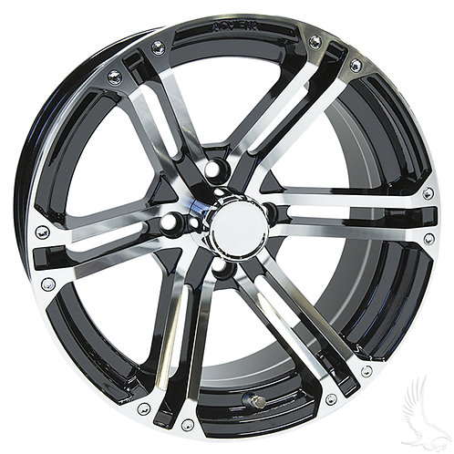 AC568, Machined Gloss Black, 15 x 6 ET-25