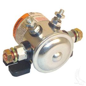 Solenoid, 12V 4 Terminal Copper/Short, E-Z-Go Gas