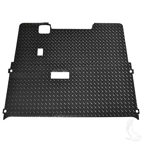 Floor Mat, Diamond Plate Rubber, Black, E-Z-Go TXT 01.5+